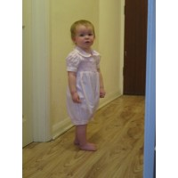 Toddlers Hand Smocked Romper Suit - Princess