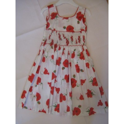 Poppy Dress with Hand Smocked design - Various sizes
