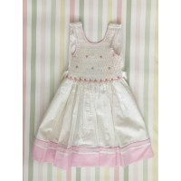 Sleeveless Hand Smocked Dress - 2 yr old - White