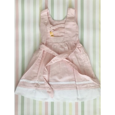 Sleeveless Hand Smocked Dress - 2 yr old - Pink