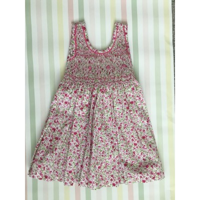 "Sleeveless Hand Smocked Dress - 6 mths- ""Tendresse"""