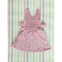 "Sleeveless Hand Smocked Dress - 1 yr old - ""Fleur Rose"""