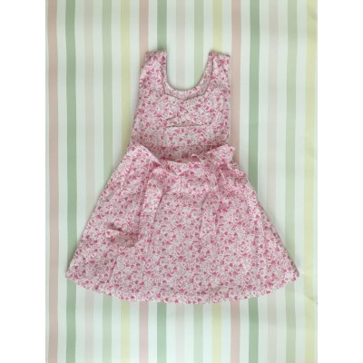 "Sleeveless Hand Smocked Dress - 2 yr old - ""Fleur Rose"""