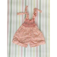 Playsuit -Pink & yellow flowers - 6mths old