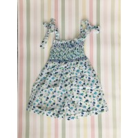 Playsuit - Blue flowers - 1 yr old