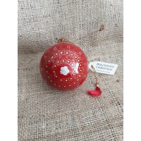 Red & Gold with Silver Star Christmas Bauble