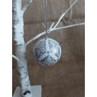 Glitter Silver Diamond Bauble