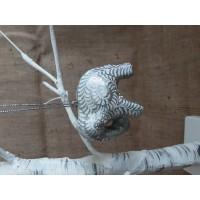 Silver Glitter Swirl Elephant