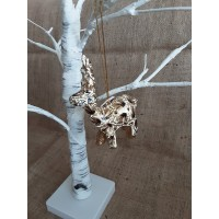 White & Gold Hanging Reindeer