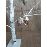 Gold Snowflake Hanging Elephant