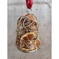 Christmas Pot Pourri  Hanging Bell - Gold