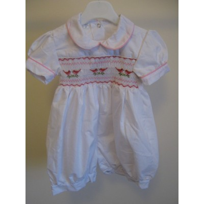 Hand Smocked Romper Suit - 2 years old