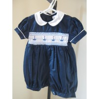 Hand Smocked Romper Suit - 6 months old