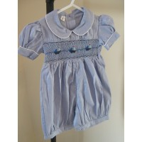 Hand Smocked Romper Suit - 1 year old