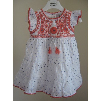 Toddlelrs Drama Queen Dress with blue spots