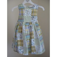 Girls Country Patchwork Style Dress