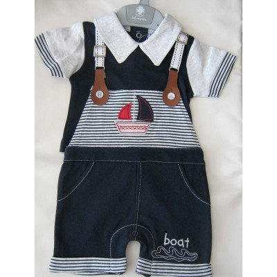 Boys Navy Bib & Braces set