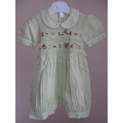 Hand Smocked Romper Suit - 6 month old