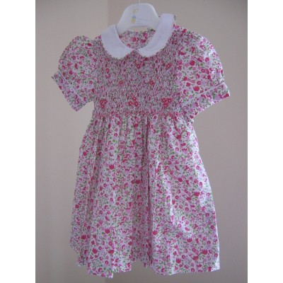 "Hand Smocked ""Bella"" Dress - 1 yr old"