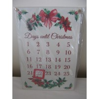 Traditional Christmas Countdown Plaque