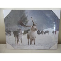 LED Light up Reindeer Wall Art Picture